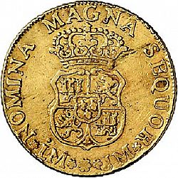 Large Reverse for 4 Escudos 1762 coin