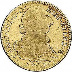 Large Obverse for 4 Escudos 1790 coin