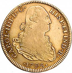 Large Obverse for 4 Escudos 1795 coin