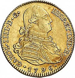 Large Obverse for 4 Escudos 1796 coin