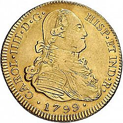 Large Obverse for 4 Escudos 1799 coin