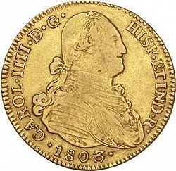 Large Obverse for 4 Escudos 1803 coin