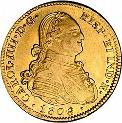 Large Obverse for 4 Escudos 1808 coin