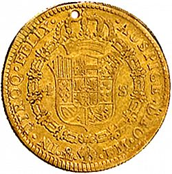 Large Reverse for 4 Escudos 1790 coin