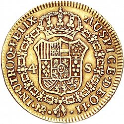 Large Reverse for 4 Escudos 1792 coin