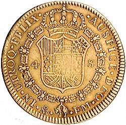 Large Reverse for 4 Escudos 1795 coin