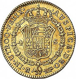Large Reverse for 4 Escudos 1796 coin