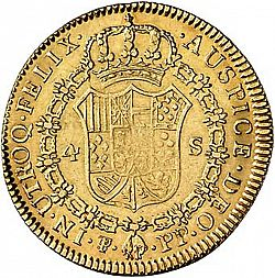 Large Reverse for 4 Escudos 1799 coin
