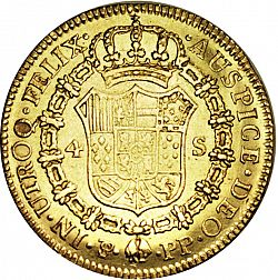 Large Reverse for 4 Escudos 1802 coin