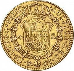 Large Reverse for 4 Escudos 1803 coin