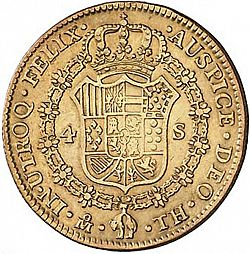 Large Reverse for 4 Escudos 1804 coin