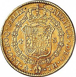 Large Reverse for 4 Escudos 1806 coin