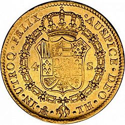 Large Reverse for 4 Escudos 1808 coin