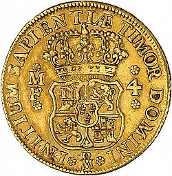 Large Reverse for 4 Escudos 1739 coin