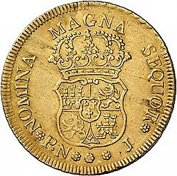 Large Reverse for 4 Escudos 1760 coin