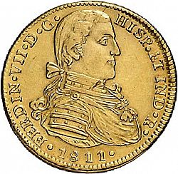 Large Obverse for 4 Escudos 1811 coin