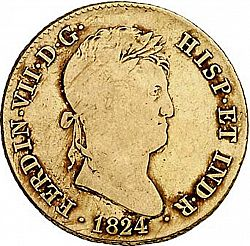 Large Obverse for 4 Escudos 1824 coin