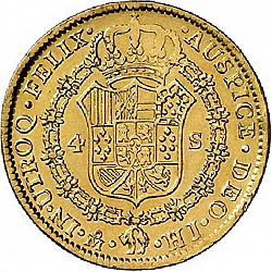 Large Reverse for 4 Escudos 1811 coin