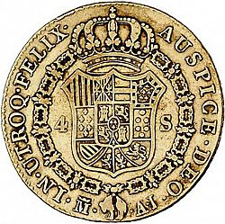 Large Reverse for 4 Escudos 1824 coin