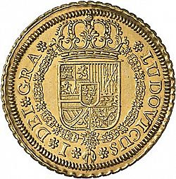 1724, 4 escudos...Is this coin real and what's it worth?   4E_L1_obv_1724F_Sg
