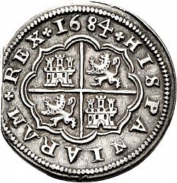 Large Reverse for 4 Reales 1684 coin
