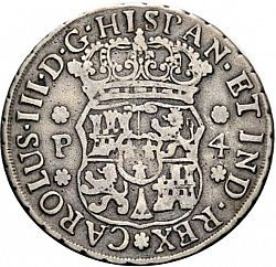 Large Obverse for 4 Reales 1760 coin