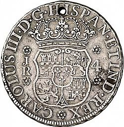 Large Obverse for 4 Reales 1768 coin