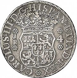 Large Obverse for 4 Reales 1770 coin