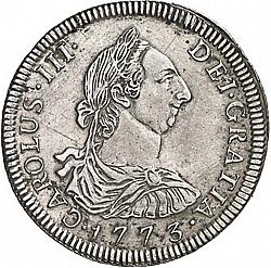Large Obverse for 4 Reales 1773 coin