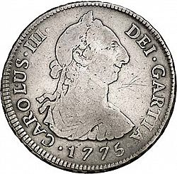 Large Obverse for 4 Reales 1775 coin