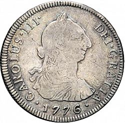 Large Obverse for 4 Reales 1776 coin
