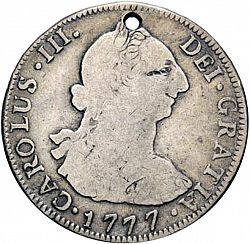 Large Obverse for 4 Reales 1777 coin