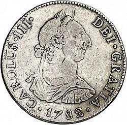Large Obverse for 4 Reales 1782 coin
