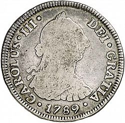 Large Obverse for 4 Reales 1789 coin