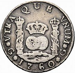 Large Reverse for 4 Reales 1760 coin