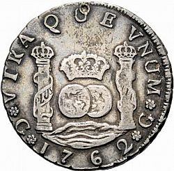 Large Reverse for 4 Reales 1762 coin