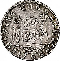 Large Reverse for 4 Reales 1768 coin