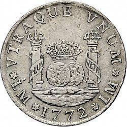 Large Reverse for 4 Reales 1772 coin