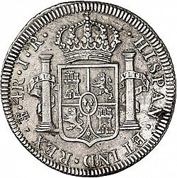 Large Reverse for 4 Reales 1773 coin