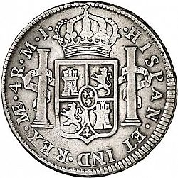 Large Reverse for 4 Reales 1775 coin