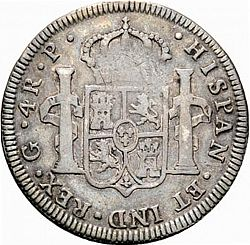 Large Reverse for 4 Reales 1776 coin