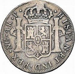 Large Reverse for 4 Reales 1777 coin