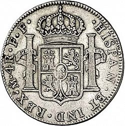 Large Reverse for 4 Reales 1782 coin