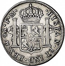 Large Reverse for 4 Reales 1789 coin