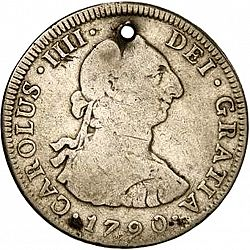 Large Obverse for 4 Reales 1790 coin