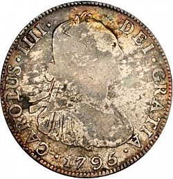 Large Obverse for 4 Reales 1795 coin