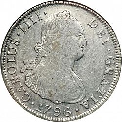Large Obverse for 4 Reales 1796 coin