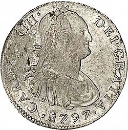 Large Obverse for 4 Reales 1797 coin