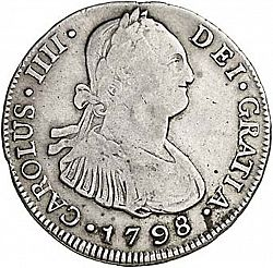 Large Obverse for 4 Reales 1798 coin