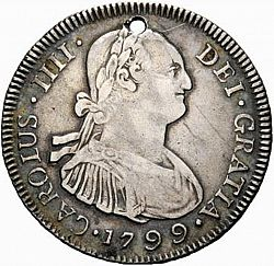 Large Obverse for 4 Reales 1799 coin
